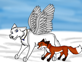 A wolf and a fox by Gemini30