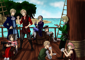 Pirates - Peter Pan Hetalia by TriaElf9