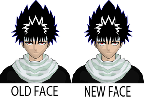 HIEI NEW FACE by GAME-ART-EDITED-ART