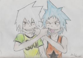 Soul Eater and Black Star by Hukkis