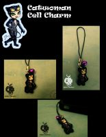 Catwoman Cell Charm by AppleToxicity