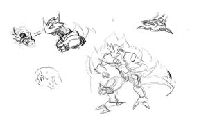 random digimon sketches by Kitamon