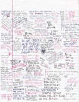 Lyrics Doodle Page by xxxguitarxxxfreak