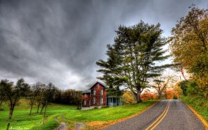 country road by AimishBoy