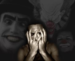 Coulrophobia - Fear of clowns by solkee