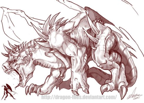 dragon   Zerg style by dragon-flies