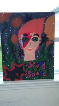 David Bowie painting.  by Siciology