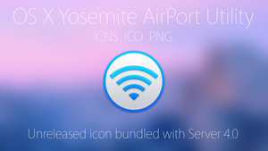 Official OS X Yosemite AirPort Utility Icon! by Atopsy
