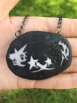 Kingdom Hearts cave drawing necklace by TrenoNights