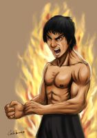 Bruce Lee Fury by Kermad