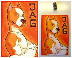 Conbadge commission for Jag by HasegawaVega