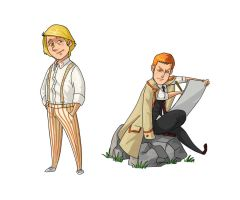 5th Doctor/Turlough by kissyushka