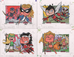 24-27 WOMEN OF MARVEL: SERIES 2 sketch cards by thecheckeredman