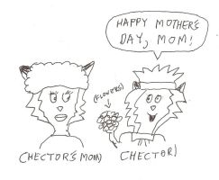 Hector's Mom (with Hector) by dth1971