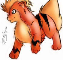 Growlithe. by Squiggums