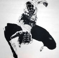 Spider-Man duotone painting by ArtClem