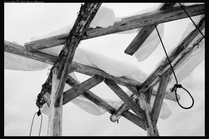 Geometry of a Swingset - bw by wroth
