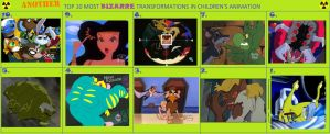 Another Top 10 Bizarre Transformations in Cartoons