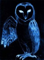 devil bird: evil owl invert by Rhahsid