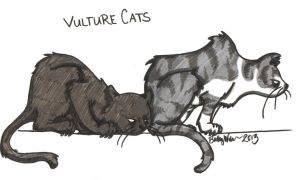 Vulture Cats by Kahlan4