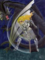 Alice and the Jabberwocky by Sahan