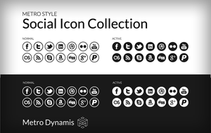Metro Style UI Social Icon Collection by tank6b