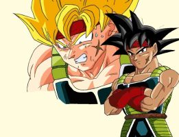 Bardock normal and ssj by gokujr96