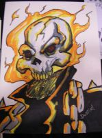 Ghost Rider commission Defcon by DustinEvans