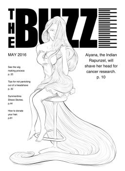 (lineart) THE BUZZ #1: Aiyana by danielwartist