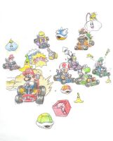 Mario kart by minimariodrawer