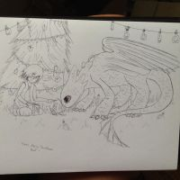 A Dragon Christmas WIP by lightfeather5632