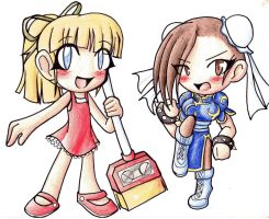 Two Girls From the Capcom Side by kagomeamichun