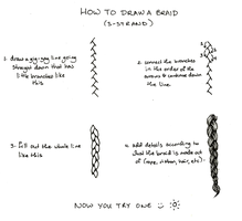Mini tutorial - How to draw a braid (3 strand) by OneFreeInternet