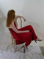 Long Red Dress 3 by chamberstock