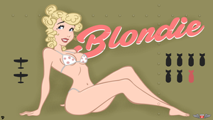 Blondie - Nose Art by Phillip-the-2