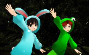 Bunny Froggy Destiny by MMDFakewings18