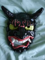 Japanese Noh Evil Demon Mask by Whitey594