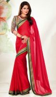Red-Chiffon-Embroidered-Saree-FD-1754-38186 large by ethniclover