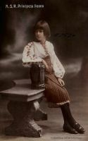 In national costume as young girl by Linnea-Rose