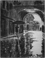Study - Rain on the Streets of Paris and my Heart by akrathan