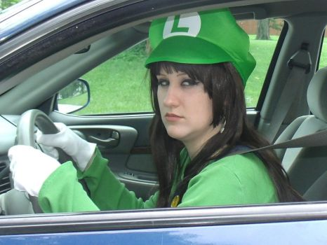 Luigi Death Stare 'Female Version' by BeCos-We-Can-Cosplay
