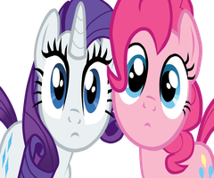 Pinkie Pie and Rarity stare at you by the-nerd-patrol