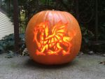Welsh Dragon Jack-o-latern by SynapticBoomstick