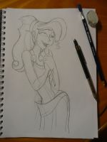 Megara sketch by DitaDiPolvere