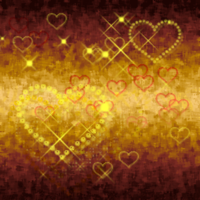 GoldNhearts background tile by sherln
