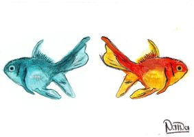 055 - Weird fishes by NainaArt
