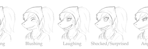 Lizzy's facial expressions by elitex2211
