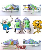 Adventure Time Shoes by juliobolivar