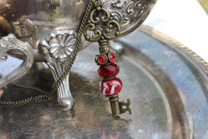Red Wealthy Key Necklace by LadyGodivasOperation