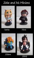 figures -- Zeke and minions by Xakriuth